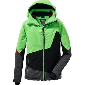 killtec KSW 65 Skijakke Drenge, grøn/sort